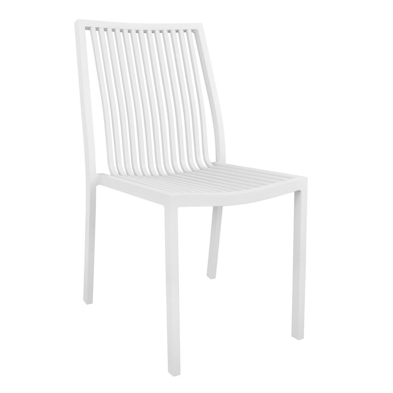 Καρέκλα αλουμινίου Berth Λευκό Έπιπλα Εξωτερικού Χώρου