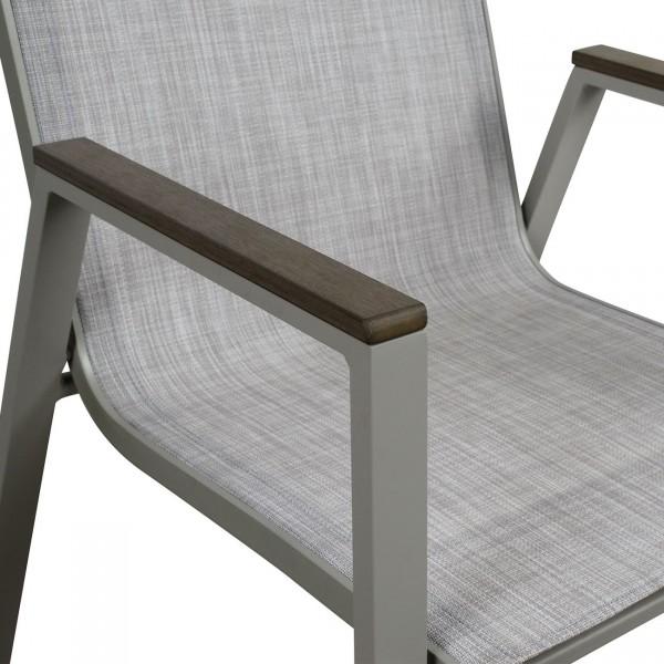 Καρέκλα αλουμινίου Rio Γκρι Έπιπλα Εξωτερικού Χώρου