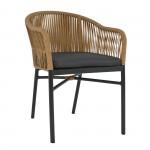 Καρέκλα Verano Ανθρακί με μπεζ