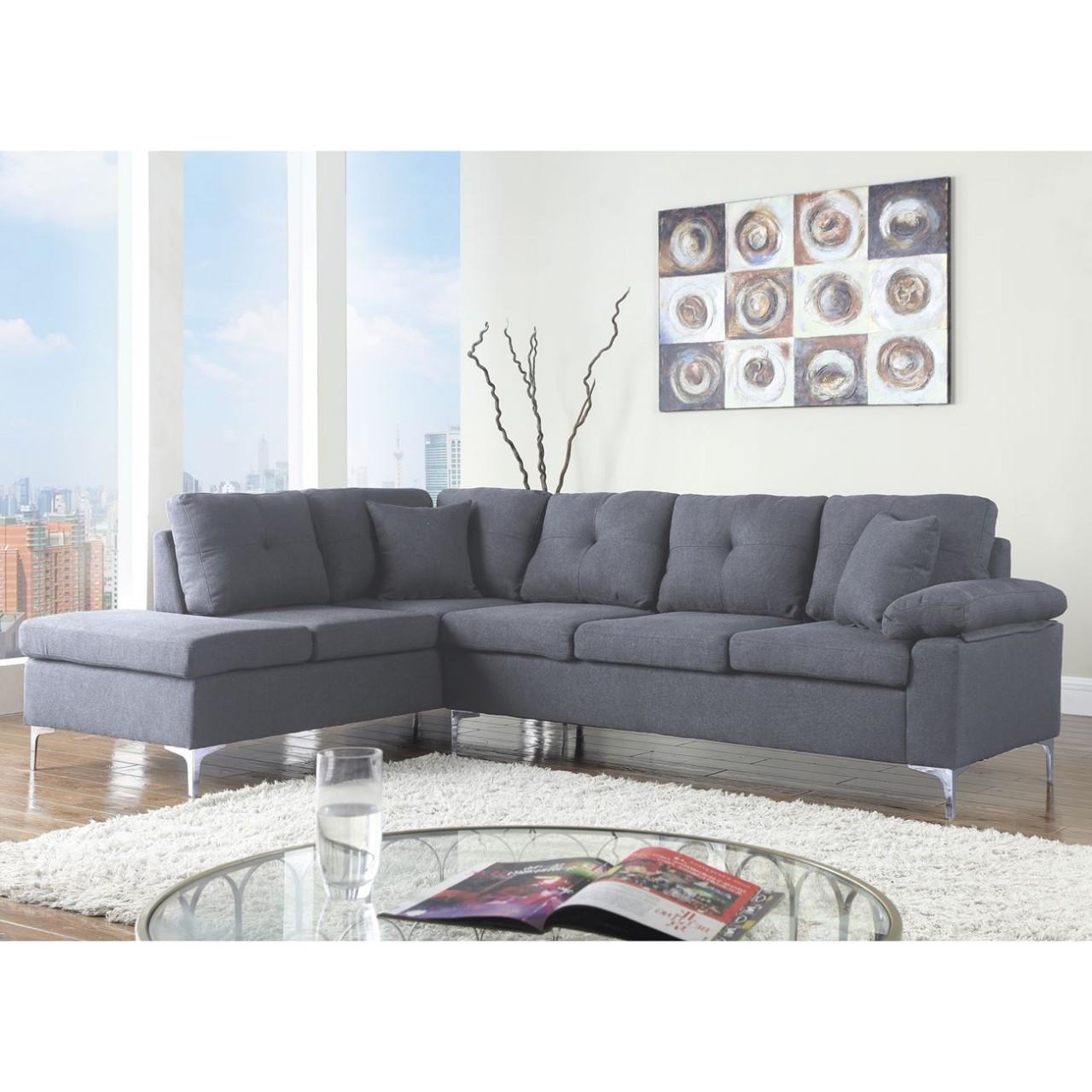 Γωνιακός καναπές Lory Γκρι Έπιπλα Σαλονιού